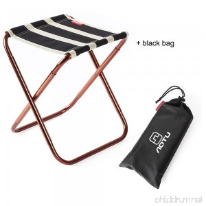 Skysper Folding Camping Stool Portable Chair for Camping Fishing Hiking Gardening and Beach Backpacking Outdoor Stool with Black Bag - B07CWRXGDT