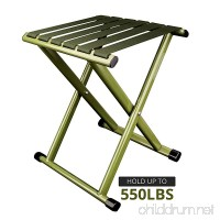 TRIPLE TREE Portable Folding Stool  Heavy Duty Outdoor Folding Chair Hold Up To 550 LBS 1 Pack Unfold Size: 11.9x10.9 x 14.4 inch (LxWxH) - B07DLQ32TB