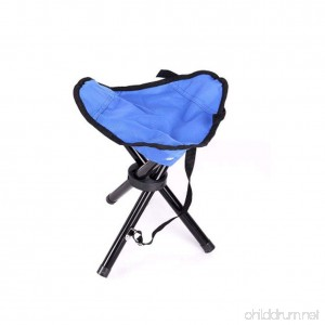 Wind Goal Folding Tripod Stool with Shoulder Strap Portable Camping Stool Chair for Fishing Travel Hiking Home Garden Beach - B07F785785