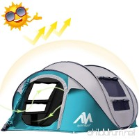 AYAMAYA Camping Tents 3-4 Person/People/Man Instant Pop Up Easy Quick Setup Ventilated [2 Door] [Mesh Window] Waterproof 4 Season Big Family Privacy Dome Tent Shelter for Backpacking Picnic Travel - B07DWM6TSS
