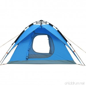Bartonisen 4 Person Automatic Popup Tent for Beach or Camping with Floor Zipper Doors - B07B67QDW4