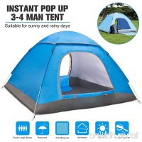 BATTOP 3-4 Person Water Resistant Camping Tent With Carry Bag for Backpacking 3 Season Ideal Shelter for Casual Family Camping Hiking Outdoor Use (Blue) - B07BF8VRHC