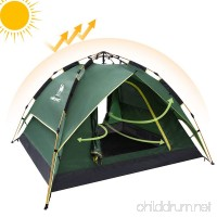 Camel Fourth-generation Automatic Hydraulic Tent for 2-3 Person Outdoor Waterproof Camping (Green) - B079L6ST6V