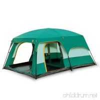 Newdora 12 People Straight Wall Cabin Tent 2 Room Waterproof Tent Camping Tent Professional Tent Backpacking Tent Easy Set Up UV Protection for Camping Festivals Beach Goers-L170 W120 H80 Green - B074QCCCVB