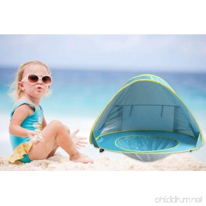 Outdoor Deluxe Beach Tent Automatic Pop Up Instant Portable Outdoors Beach Tent UV Protection Sun Shelter Easy set up - B079SBBHVR