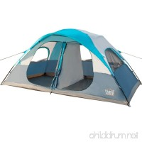 Timber Ridge 8 Person Family Camping Tent 2 Doors 2 Rooms 3 Seasons with Carry Bag and Rain Fly - B017B9PBOW