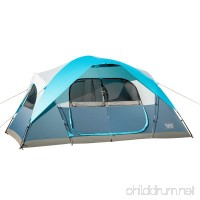 Timber Ridge Large Family Tent 10 Person 3 Seasons for Camping with Carry Bag and Rain Flysheet 2 Rooms - B017B9PDZ4