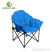 ALPHA CAMP Folding Oversized Padded Moon Saucer Chair with Cup Holder and Carry Bag - B078JHMYWR