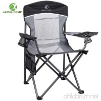 ALPHA CAMP Oversized Camping Chair Folding Portable Mesh Chair Support 350lbs - B07BRH9VWK