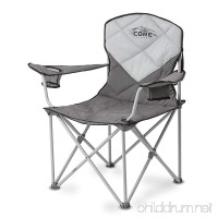 CORE Equipment Folding Padded Quad Chair with Carry Bag Gray - B01E45Z4Q6