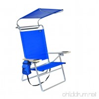 Deluxe 4 position Aluminum Beach Chair w/Canopy & Storage Pouch - B00E35C2WC