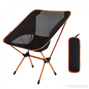 Domary Outdoor Folding Camping Chairs Portable Moon Leisure Chair Beach Chairs with Carry Bag for Hiking/Travel/Hunting/Fishing - B07CB8KP5F