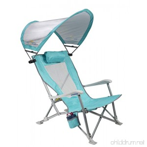 GCI Outdoor Waterside SunShade Folding Beach Recliner Chair with Adjustable SPF Canopy - B01NB073GC
