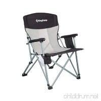 KingCamp Folding Chair Mesh Back with Cup Holder Armrest Pocket Headrest  Breathable Portable Oversize Heavy Duty  Supports 330 lbs - B0734FZ1W1