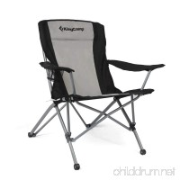 KingCamp Heavy Duty Folding Arm Chair with Comfotable Tilted Back - B01D19MIOM