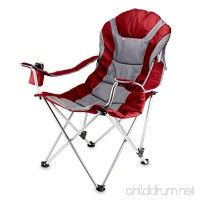 ONIVA - a Picnic Time brand Portable Reclining Camp Chair  Red/Gray - B00HKVGU56