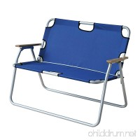 Outsunny 2-Person Folding Aluminum Love Seat Camping Chair - B0722R54DH