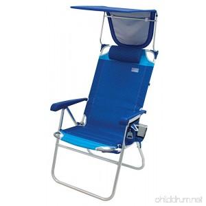 Rio Beach Hi-Boy High Seat 17 Folding Beach Chair With Canopy - B0757T697F