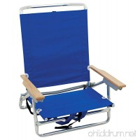 Rio Brands 5 Position Classic Lay Flat Beach Chair with Backpack Straps - B0757SK1G4