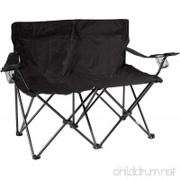 "Trademark Innovations 31.5""H Loveseat Style Double Camp Chair with Steel Frame - B00LWBI66G"