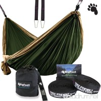 Bigfoot Outdoor Double Tree Hammock Suspension System - w/ XL Straps - 34 Loops Total - Over 10.6 feet Long - 6.6 feet wide - 4 Steel Carabiners - B01EGXI1IY