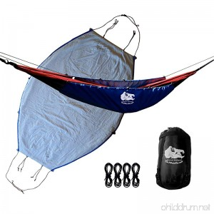 Chill Gorilla 40°F HAMMOCK UNDERQUILT BLANKET. Lightweight Fits All Camping Hammocks. Under Quilt Keeps You Warmer Saves Space & Versatile. Camping Backpacking and Survival Gear. Eno Accessory BLUE - B073QMSWVC
