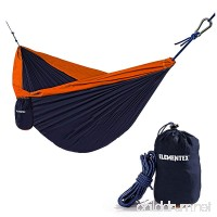 ELEMENTEX Portable Parachute Nylon Travel Camping Backpacking Hammock - Choose Your Size/Color - B07BZBN5KW