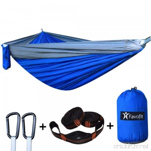 Favofit Camping Hammock with Straps (Combined 22 Loops and 16 FT) - B06XBW669C