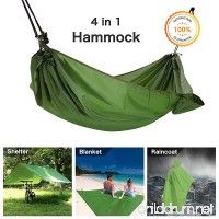 Multifunction Camping Hammock  4 In 1 Outdoor Camping Hammock - Multifunction Waterproof Hammock Rain Fly Tent Tarp - Camping Blanket - Raincoat for Camping Picnic Blanket Hiking Outdoors Activities - B079FMGWCR