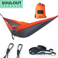 SOULOUT Double Camping Hammock - Lightweight Portable Parachute Nylon Hammocks for Backpacking  Travel  Beach  Hiking  Yard. - B07BXLDGDM
