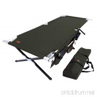 Tough Outdoors Camp Cot [XL] with Free Organizer & Storage Bag - Military Style Folding Bed for Camping  Traveling  Hunting  and Backpacking - Lightweight  Heavy-Duty & Portable Cots for Adults - B071K5D7WF