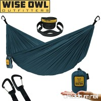 Wise Owl Outfitters Ultralight Hammock With Tree Straps For Camping - Featherlight Compact Durable Ripstop Parachute Nylon Hammocks Lightweight Gear for Outdoors Backpacking Hiking - B07B8H8HYN