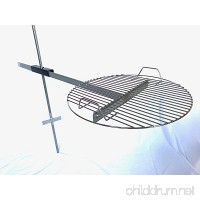 Camp Grill Heavy Duty Fully Adjustable for Outdoor BBQ over Open Fire - B072MLC4T1
