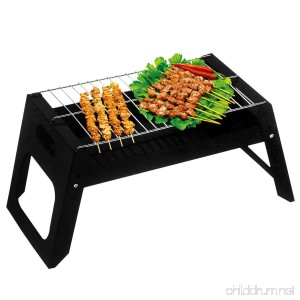haide Charcoal BBQ Grill Folding Portable Stainless Steel Barbecue Grill for Outdoor Camping Cookouts - B076KD884Y