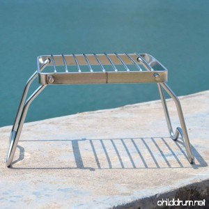 Haoun Camping Stove Stand Stainless Steel Foldable Stove Rack for Traveling Camping Portable - B07DG81865