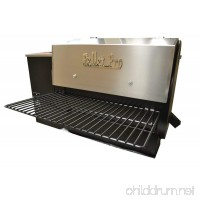 "Pellet Pro® 34"" x 12"" Powdercoat Folding Front Pellet Grill Shelf for Traeger  Camp Chef  etc. - B073K1GHM1"