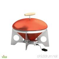 VitalGrill Gourmet BBQ Grill Red/Silver - B00E9NEU4Q