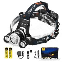 C CALOICS LED Headlamp  Brightest and Best 6000 Lumens T6 Waterproof Headlight Headlamps with Rechargeable 18650 Batteries Hands-Free Flashlight for Night Fishing Running Hunting Reading Camping - B018K9LUK6