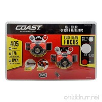 Coast Focusing Headlamps 405 Lumen LED 2 Pack - B01M5LGEM3