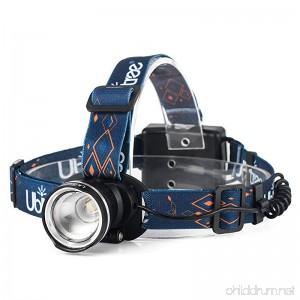HFAN LED Headlamp Super Bright 1200 Lumens 3 Modes Adjustable Zoomable Waterproof Headlight for Camping Riding Running Night Walking Fishing Hunting Reading Car Repairing DIY Works ect - B07CKX1RVZ