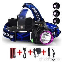 Lightess Head Lamps Rechargeable Headlamp Flashlight Super-bright 2200 Lumens Waterproof Head Torch With 3 Modes  XM-L T6 LED Powerful Headlight For Camping Fishing Cycling Running Hiking Hunting - B01JIOEA9K