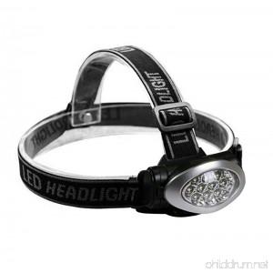 Utopia Home LED Headlamp - Waterproof Flash Light - Adjustable Headband - Best for Camping Hiking Hunting Fishing Running - Battery Powered - B073V3QV47
