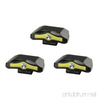 X-BALOG 3 Pack 350 Lumens LED Cap Light Clip Headlamp 2 Modes Rotatable COB Ball Hat Lamp Power by 3XAAA Batteries for Reading Fishing Working Walking the Dog - B0747PJW2W