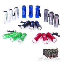 EverBrite Mini LED Flashlight Set 18-pack with Lanyard Batteries Included For Camping  Night Reading  BBQ  Party - B01CTX742M