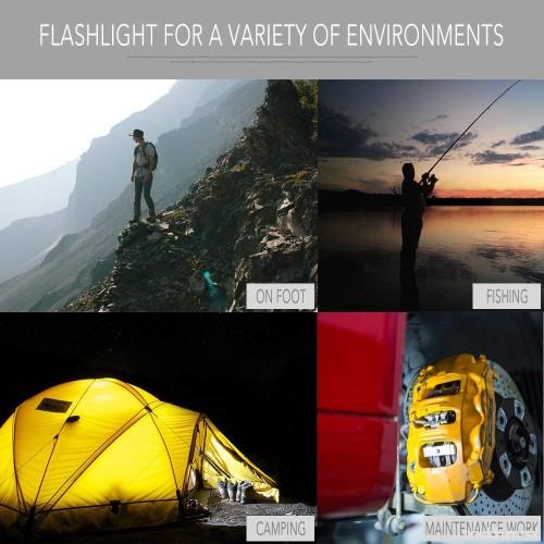 Flashlight Nicron N7 600 Lumens Tactical Flashlight 90 Degree Mini Flashlight
