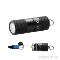 Olight I1R EOS 130 Lumen Tiny Rechargeable LED Keychain Light with Built-in battery and USB cable Father's Day Gift - B07CT423H2
