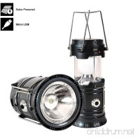 2018 NEW 18650 Battery Solar LED Camping Lantern and 2800mAh USB Powerbank - Up to 10 Hours at Brightest Setting - Great for: Camping  Hiking  Auto Emergencies - Batteries Included - 3Year Warranty - B07BHG1XTK