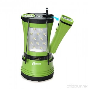 600 Lumen LED Camping Lantern with 2 Detachable Flashlights Odoland Camping Gear Equipment for Outdoor Hiking Camping Supplies Emergencies Hurricanes Outages - B0727R11QS