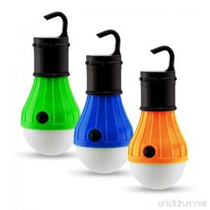 Astorn 3 PC Outdoor Light Set for Tents & Camping | LED Light Bulbs Outdoor Lantern Lights | Battery Powered Camping Lights | Portable Outdoor Lighting Set - B077GL99W2