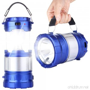 CaseTop Outdoor Camping Lamp Portable Outdoor Rechargeable Solar LED Camping Light Lantern Handheld Flashlights with USB Charger Perfect Hiking Fishing Emergency Lights - B075D4XB2Y